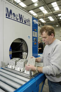 MecWash combines ultrasonics with aqueous wash system to achieve stringent component cleaning targets