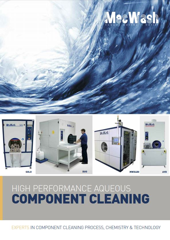 High performance aqueous component cleaning