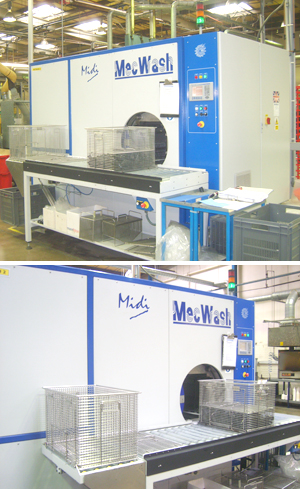 Precision cleaning of temperature critical components with MecWash system